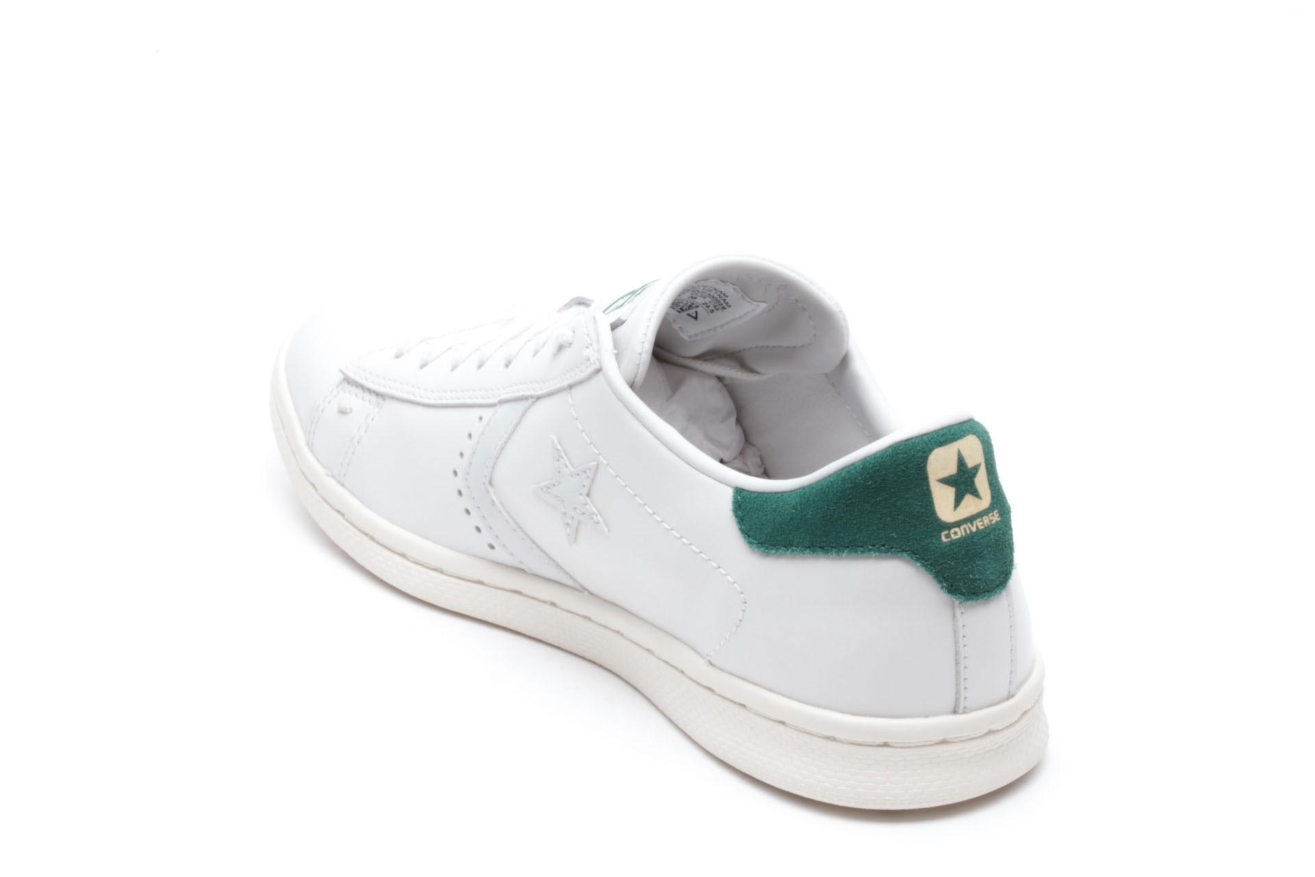 Converse Pro Leather – Bianca Tallone Verde – Borgarello